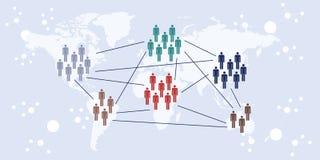 Международный контакт горизонтальный Стоковые Изображения RF