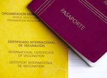 Международный сертификат вакцинирования и пасспорта Стоковое Фото