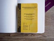 Международный сертификат вакцинирования и пасспорта Стоковое фото RF