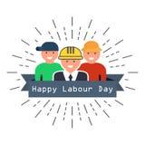Международный счастливый плакат Дня труда также вектор иллюстрации притяжки corel Стоковые Изображения RF