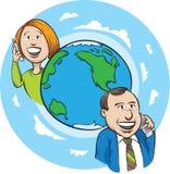 Международный телефонный разговор Стоковые Фотографии RF