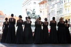 Международный фестиваль 2017 фольклора, Загреб, Хорватия, 15 Стоковая Фотография RF
