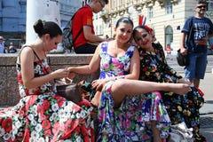 Международный фестиваль фольклора, 2017 , Загреб, Хорватия, 125 Стоковые Фотографии RF