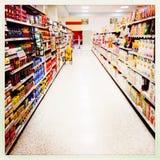 Междурядье Гонконг супермаркета Стоковая Фотография RF