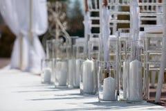 Междурядье свадьбы для свадебной церемонии Стоковые Изображения