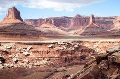 Мезы в Canyonlands Стоковая Фотография