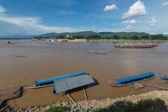 Меконг в названном месте Золот Треугольником Стоковое Фото