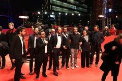 Мексиканец Алонсо Ruizpalacios, Bernardo Velasco, Leonardo Ortizgris на Berlinale 2018 Стоковая Фотография