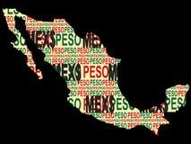 мексиканец валюты Стоковые Изображения RF