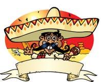 мексиканец знамени Стоковые Изображения