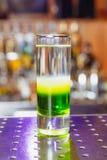 Мексиканец коктеиля зеленый на баре Стоковое Изображение RF