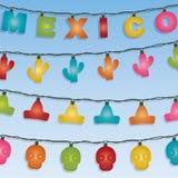 Мексиканец освещает украшение иллюстрация штока