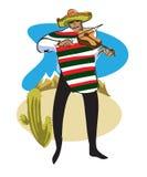 Мексиканец с скрипкой Стоковые Фото