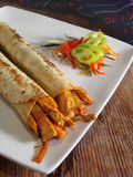 мексиканец цыпленка burritos Стоковые Фото