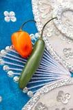 мексиканец шлема habanero chili горячий перчит serrano Стоковая Фотография