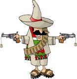 мексиканец bandito иллюстрация вектора