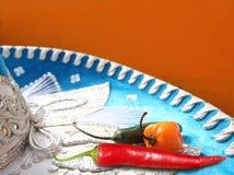 мексиканец habanero chili горячий перчит красное serrano Стоковые Фотографии RF