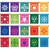 Мексиканская бумажная овсянка иллюстрация штока