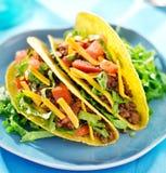 Мексиканская еда - тако говядины Стоковое Изображение RF