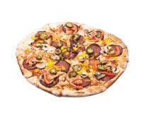 Мексиканская изолированная пицца Стоковая Фотография RF