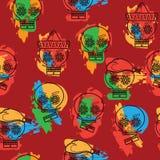 Мексиканская картина черепов иллюстрация штока