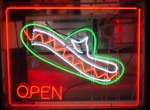 Мексиканская неоновая вывеска ресторана Стоковые Изображения RF
