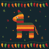 мексиканская партия иллюстрация штока