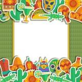 Мексиканская рамка Стоковое Изображение