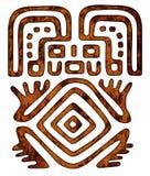 Мексиканская картина - соплеменная диаграмма человека Стоковое фото RF