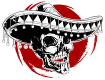 Мексиканская татуировка черепа Стоковая Фотография