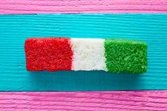 Мексиканская striped конфета флага кокоса chredded Стоковые Фото