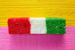 Мексиканская striped конфета флага кокоса chredded Стоковая Фотография