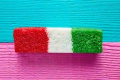 Мексиканская striped конфета флага кокоса chredded Стоковое Фото