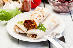 Мексиканские буррито Стоковые Изображения