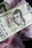 мексиканские деньги Стоковая Фотография