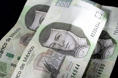 мексиканские деньги Стоковое Изображение