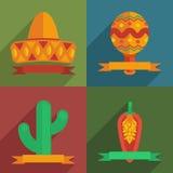 Мексиканские карточки иллюстрация вектора