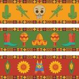 Мексиканские украшения знамени иллюстрация вектора