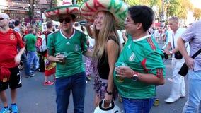 Мексиканские футбольные болельщики перед финальным матчем европейского чемпионата футбола акции видеоматериалы