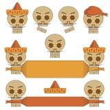 Мексиканские черепа иллюстрация штока
