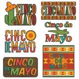 Мексиканские эмблемы иллюстрация вектора