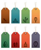 Мексиканские ярлыки иллюстрация вектора