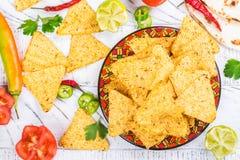 Мексиканские nachos tortilla Стоковое фото RF