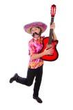 Мексиканский гитарист Стоковое Изображение