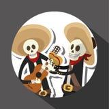 Мексиканский дизайн культуры, иллюстрация вектора Мексиканськие значки Стоковое Изображение RF