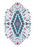 Мексиканский и африканский племенной орнамент Печать вектора этническая Стоковые Фото