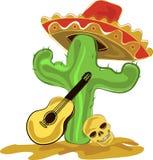 Мексиканский кактус иллюстрация штока