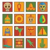 Мексиканский комплект иконы бесплатная иллюстрация