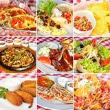 Мексиканский коллаж еды Стоковая Фотография RF