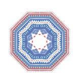Мексиканский круглый орнамент Стоковое Изображение